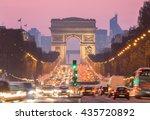 arc of triomphe paris  champs...   Shutterstock . vector #435720892