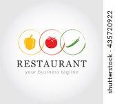 restaurant logo   vegetable... | Shutterstock .eps vector #435720922