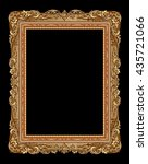 gold photo frame with corner... | Shutterstock .eps vector #435721066