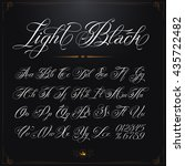 hand drawn vector calligraphy... | Shutterstock .eps vector #435722482