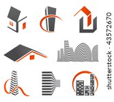 real estate logos   Shutterstock .eps vector #43572670