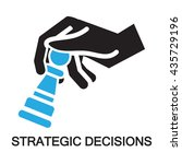strategic decisions  checkmate... | Shutterstock .eps vector #435729196