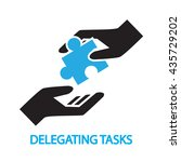 delegating tasks assignment ... | Shutterstock .eps vector #435729202
