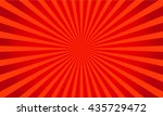 retro red shiny starburst... | Shutterstock .eps vector #435729472