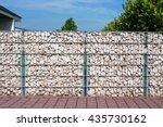 gabion fence  wall  from  steel ... | Shutterstock . vector #435730162