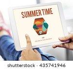 summer time let's travel... | Shutterstock . vector #435741946