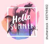 hello summer. modern... | Shutterstock . vector #435745402