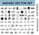 icon symbol badge logo... | Shutterstock .eps vector #435745852