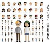 diversity community people flat ... | Shutterstock .eps vector #435746242