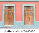 colorful doors in san juan old ... | Shutterstock . vector #435746638
