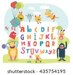 Funny Monsters English Alphabet