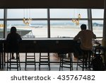 people waiting at coffee cafe... | Shutterstock . vector #435767482