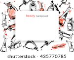 vector abstract banner with... | Shutterstock .eps vector #435770785
