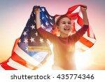 patriotic holiday. happy kid ... | Shutterstock . vector #435774346