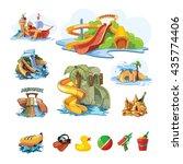 vector pictures set of water... | Shutterstock .eps vector #435774406