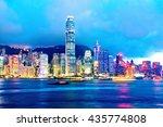 hong kong at night   Shutterstock . vector #435774808
