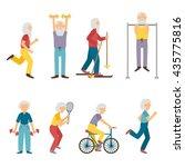 vector set of cartoon... | Shutterstock .eps vector #435775816