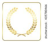 gold laurel wreath. symbol of... | Shutterstock .eps vector #435780466