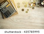 Money  coins   calculator and...