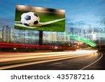 billboard blank for outdoor...   Shutterstock . vector #435787216