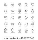 fruits and berries icons set....   Shutterstock . vector #435787348