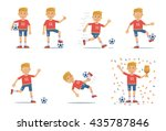 set of football player... | Shutterstock .eps vector #435787846