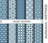 arabic vector patterns | Shutterstock .eps vector #435793432