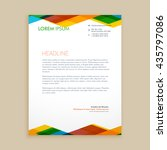 abstract colorful letterhead | Shutterstock .eps vector #435797086