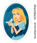princess cinderella holding... | Shutterstock .eps vector #435802966