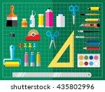 art crafts office or school... | Shutterstock .eps vector #435802996