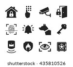 home security icons set   ...   Shutterstock .eps vector #435810526