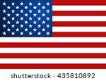 united state of america flag.... | Shutterstock .eps vector #435810892