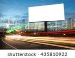 billboard blank for outdoor... | Shutterstock . vector #435810922