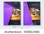 flier design. corporate... | Shutterstock .eps vector #435812482