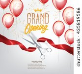 grand opening banner with... | Shutterstock .eps vector #435819586