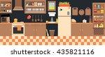 lovely kitchen illustration ... | Shutterstock . vector #435821116