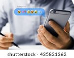 phone with emoji | Shutterstock . vector #435821362