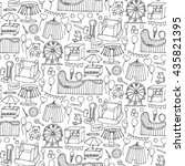 seamless pattern with... | Shutterstock .eps vector #435821395