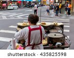 hawker food in ximending taipei ... | Shutterstock . vector #435825598