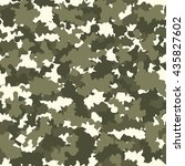 camouflage military fashion... | Shutterstock .eps vector #435827602