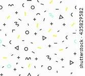 geometric vector pattern ... | Shutterstock .eps vector #435829582