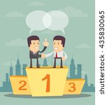 business people on the podium... | Shutterstock .eps vector #435830065