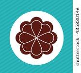 flower vector. garden icon.... | Shutterstock .eps vector #435830146