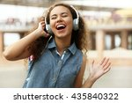 african american woman... | Shutterstock . vector #435840322