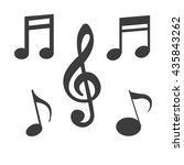 music note icon. flat vector... | Shutterstock .eps vector #435843262