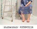 senior women using the toilet... | Shutterstock . vector #435845116