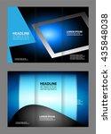 brochure mock up design... | Shutterstock .eps vector #435848038