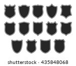 set of shields isolated on... | Shutterstock .eps vector #435848068