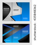 front and back presentation of... | Shutterstock .eps vector #435848362