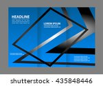 template design of blue trifold ... | Shutterstock .eps vector #435848446